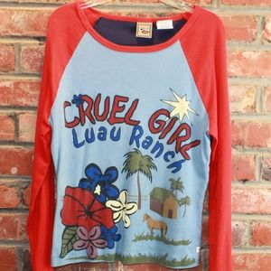 Cruel Girl Luau Ranch Jersey Shirt: L